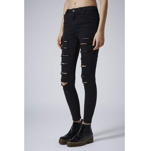 High Rise Distressed Skinny Jeans Topshop Moto
